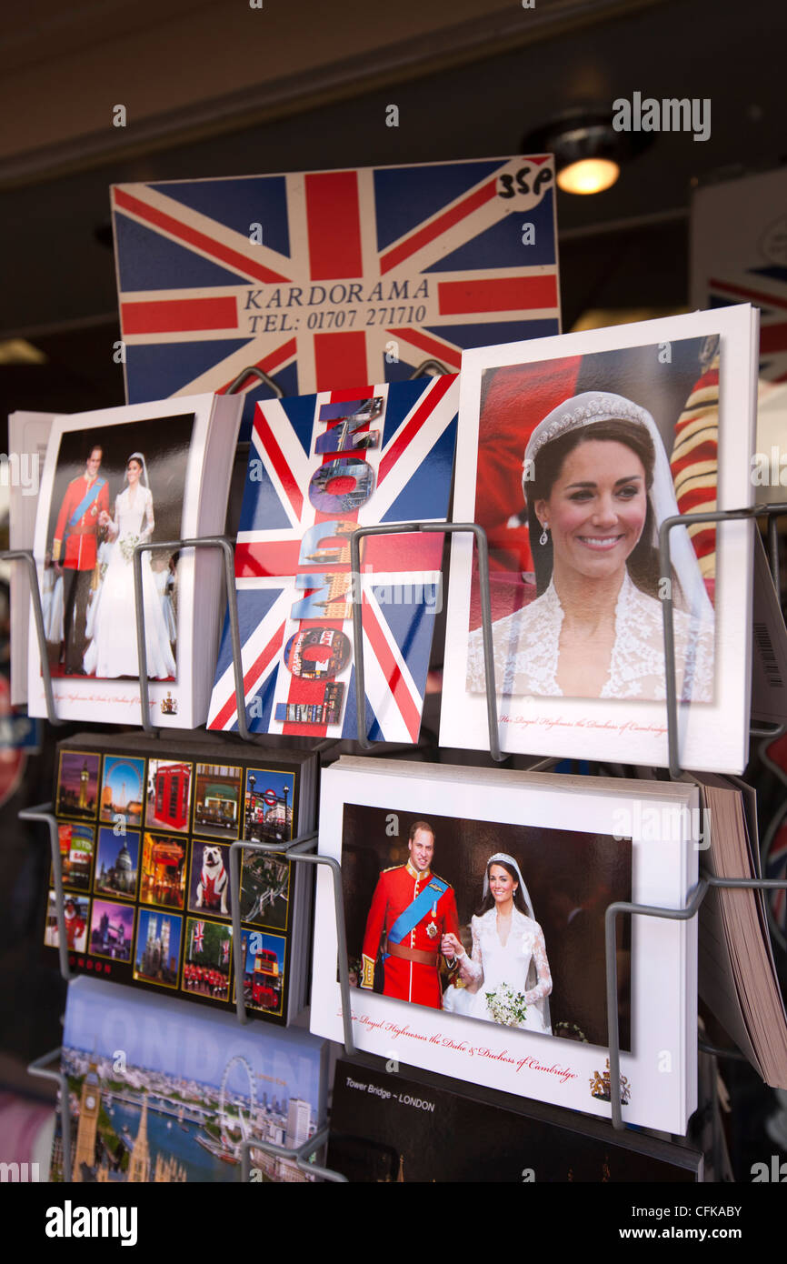 Warwickshire, Stratford on Avon, Royal postcards for sale - Stock Image