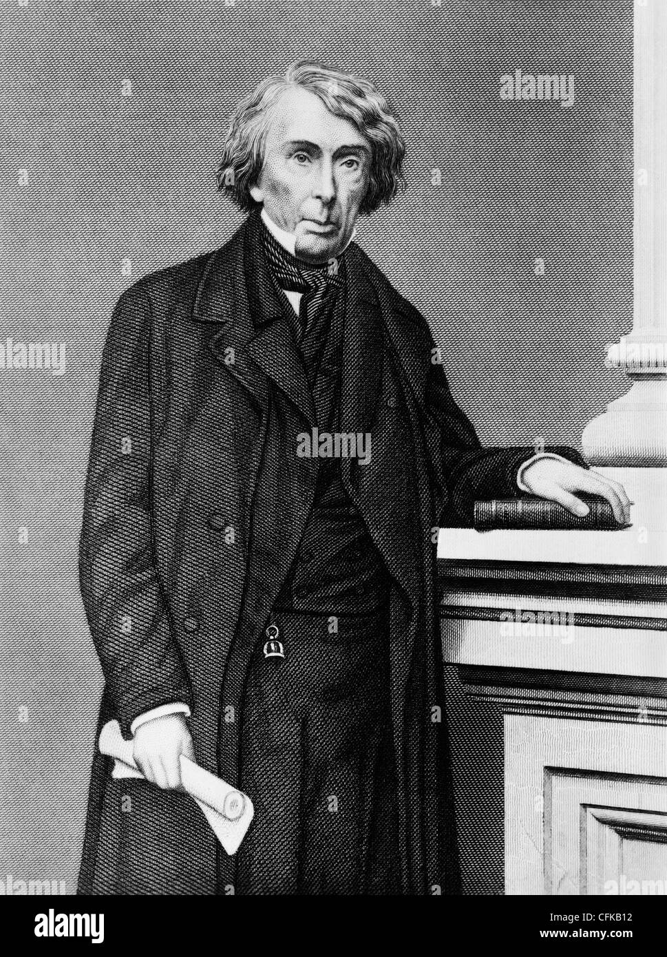 Vintage portrait print of American judge Roger B. Taney (1777 - 1864) - the fifth US Chief Justice (1836 - 1864). - Stock Image