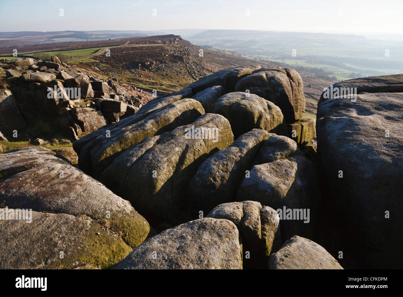 Curbar Edge, Peak District National Park, Derbyshire, England - Stock Image