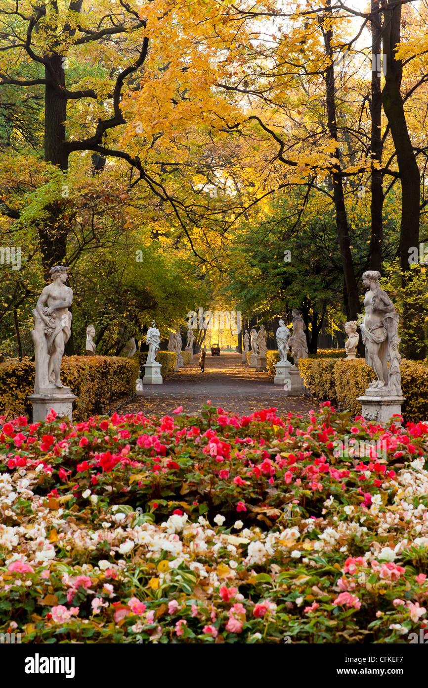 Central alley in the old park Summer Garden in St.Petersburg, Russia ...