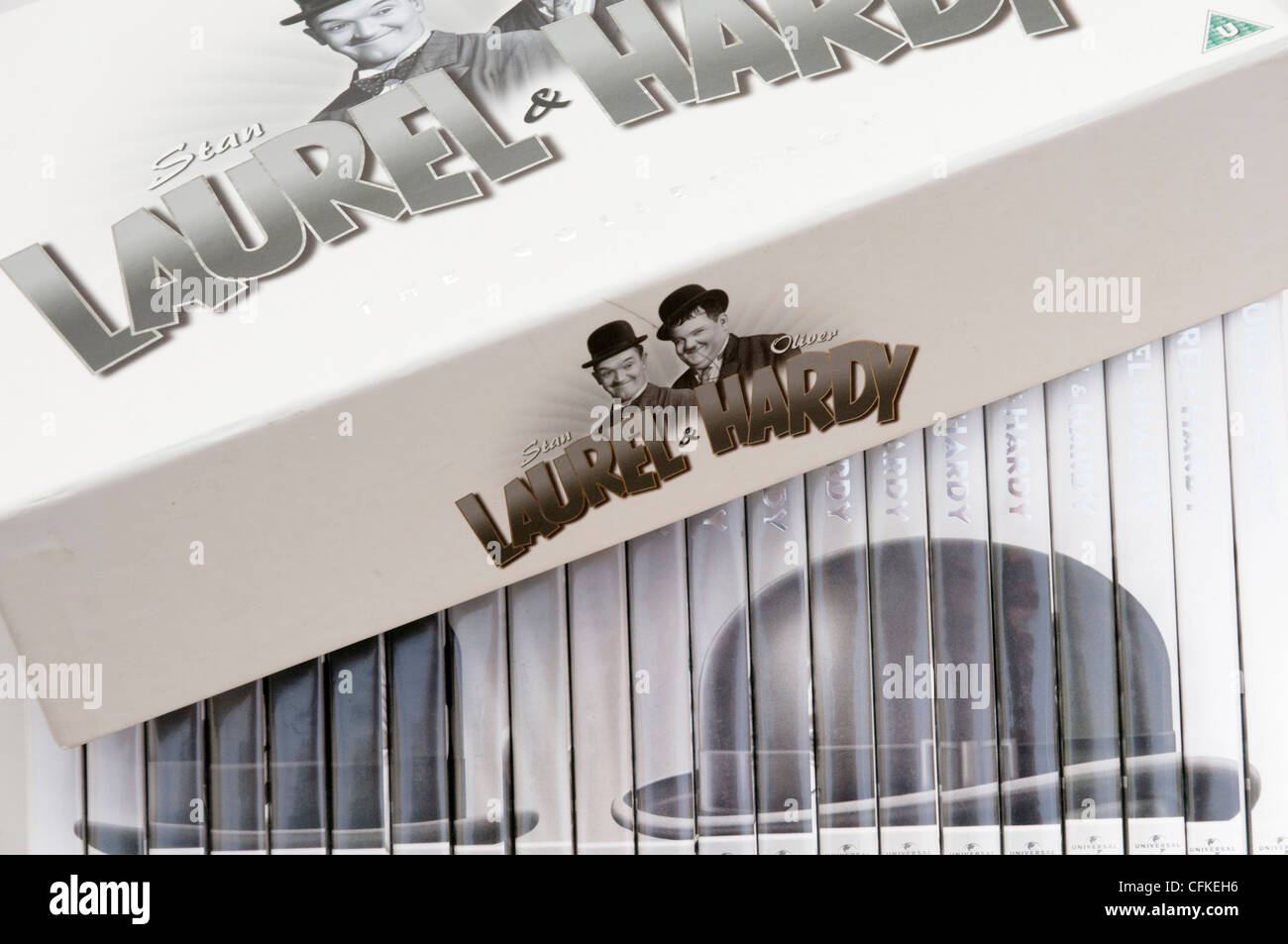 Laurel and Hardy Complete Series DVD box set - Stock Image
