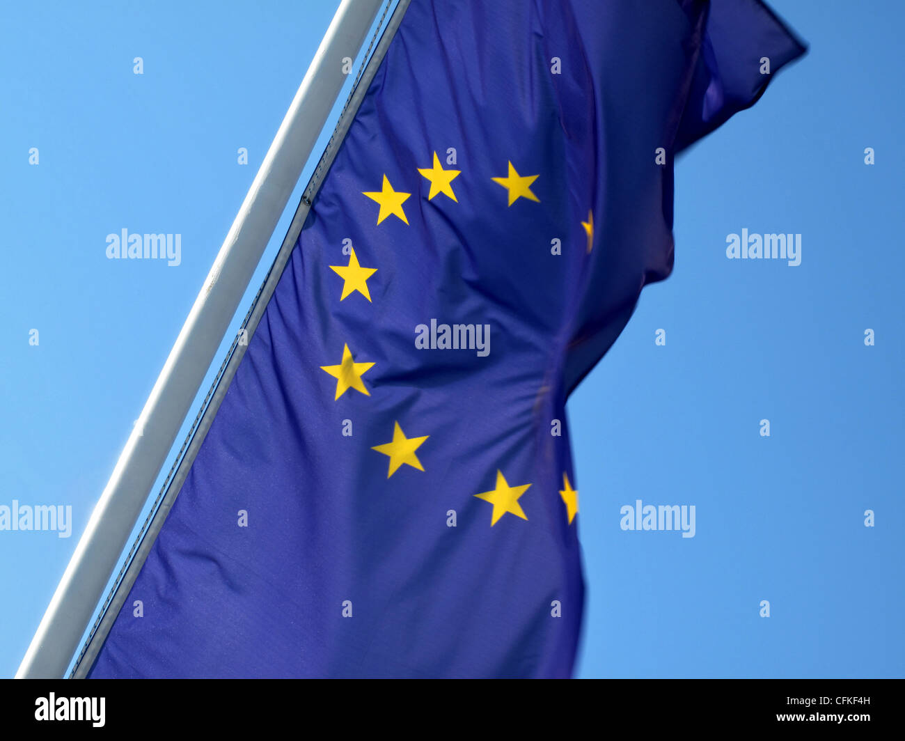 Flag of the European Union EEC - Stock Image