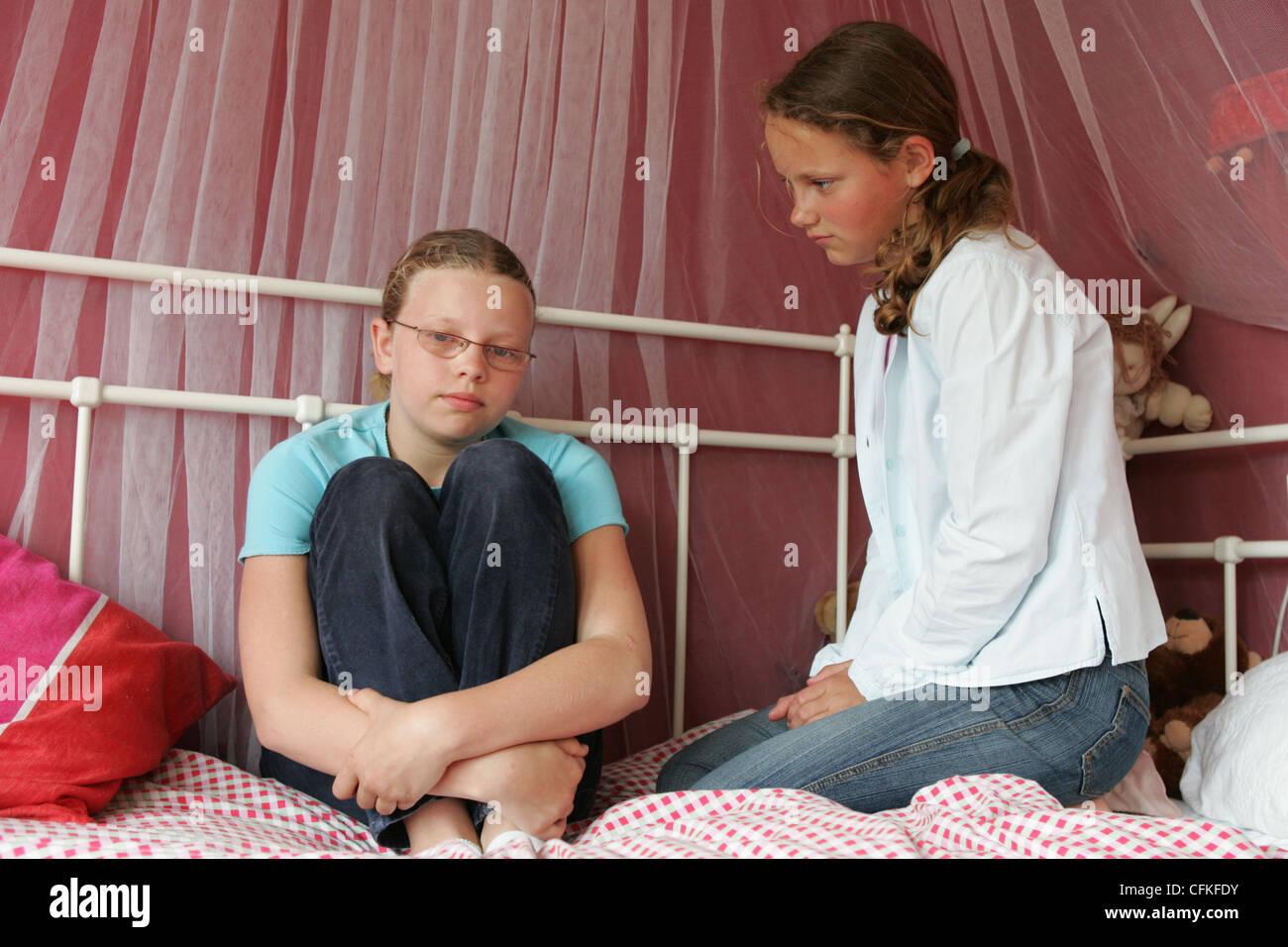Teenager depression - Stock Image