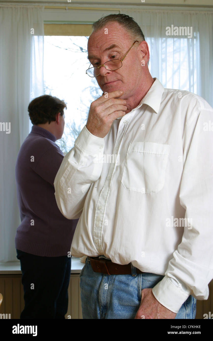 Man and woman having family problems - Stock Image