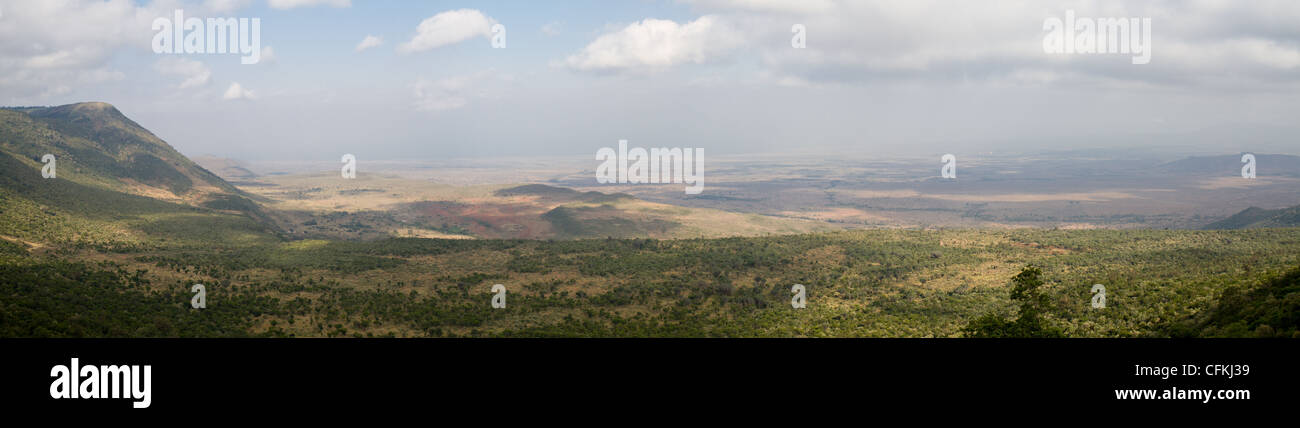 Panorama of the Rift Valley, Kenya, Africa Stock Photo