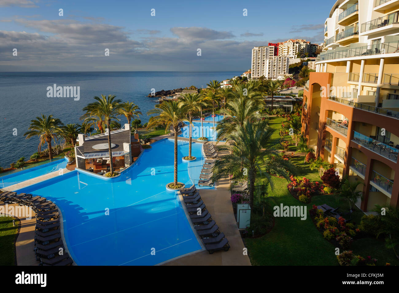View from a balcony Pestana Promenade Hotel Funchal Madeira Portugal - Stock Image