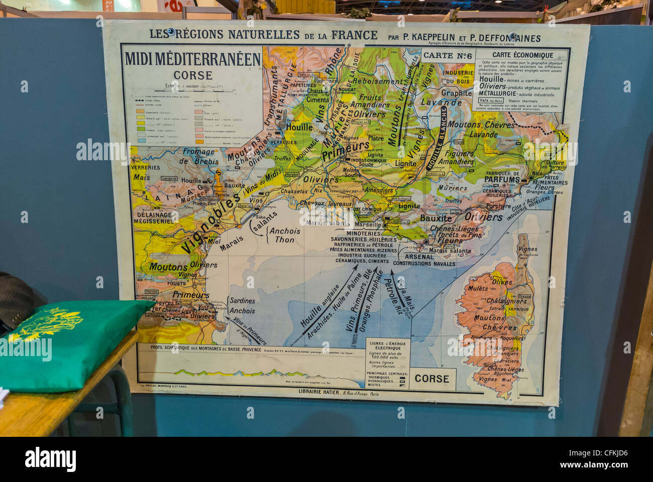 Old world map illustration stock photos old world map illustration old economic map of france salon du livre stock image gumiabroncs Choice Image