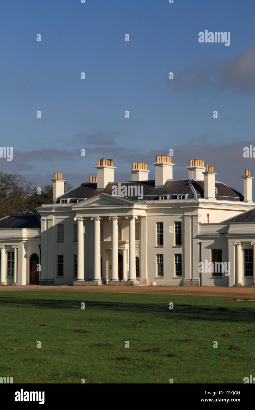Hylands House, a Grade II* neo-classical villa situated within Hylands Park, Chelmsford, Essex, UK. - Stock Image