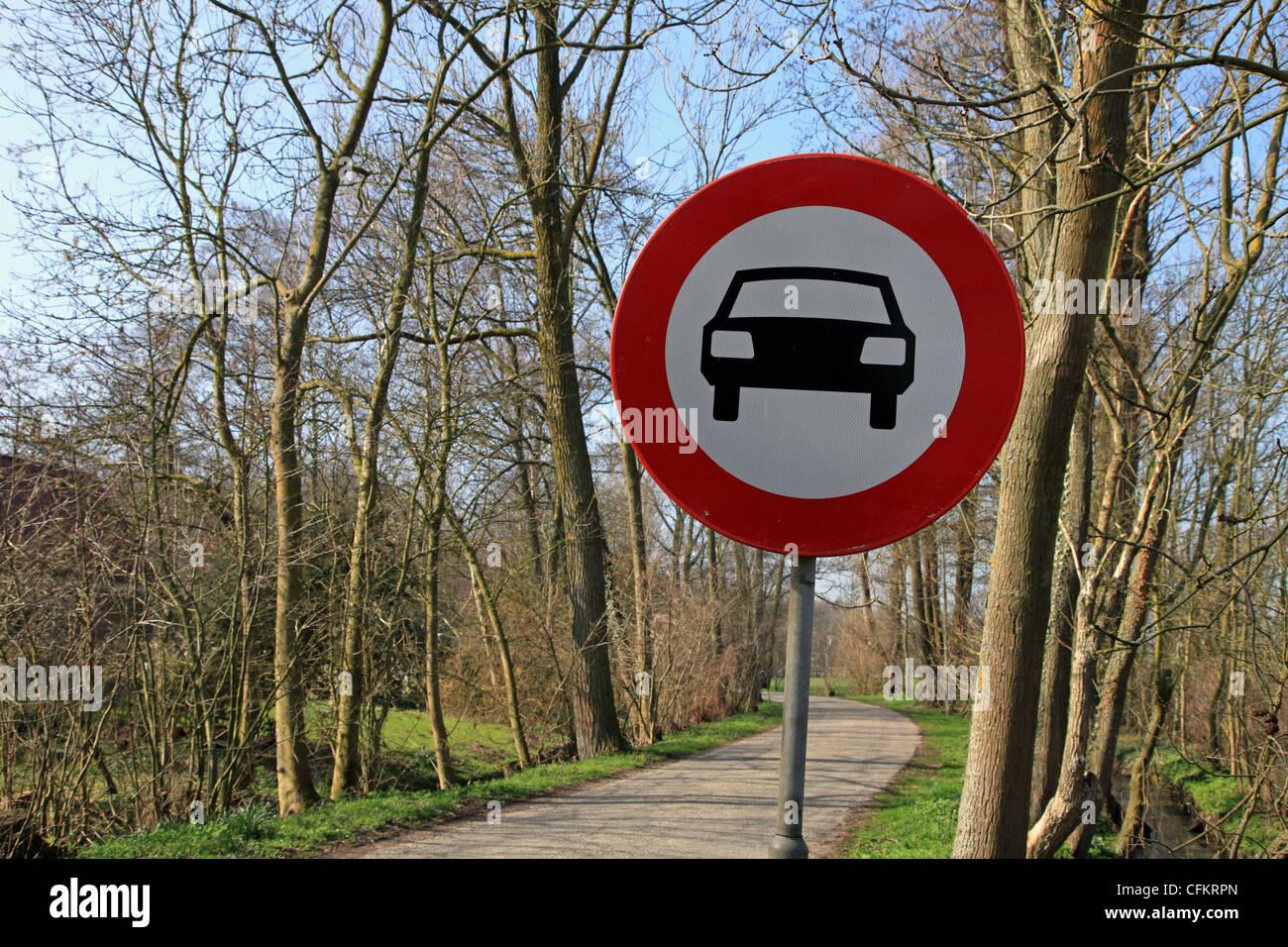 Cars prohibited - Stock Image