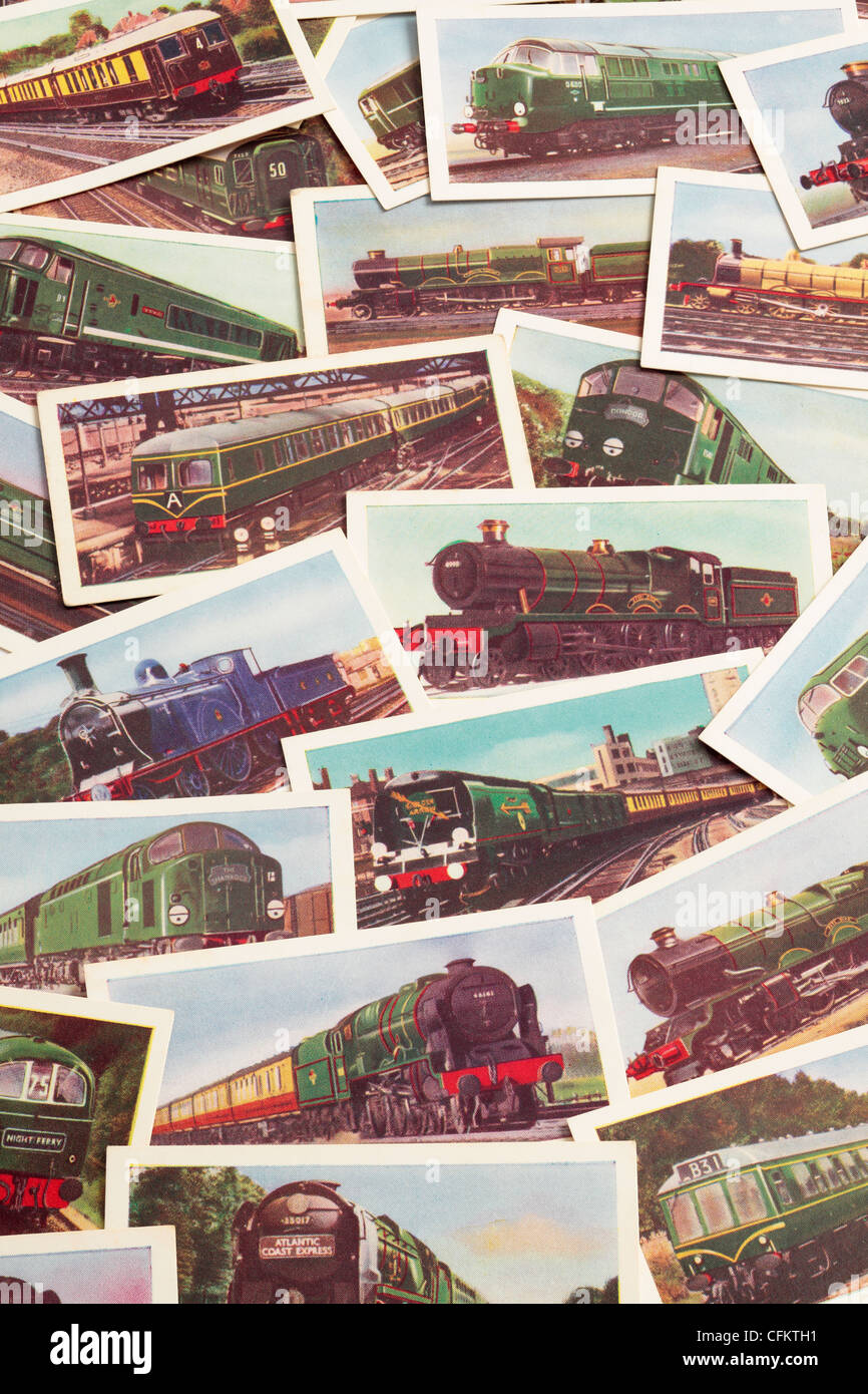 Railway Tea Cards Background Montage - Stock Image