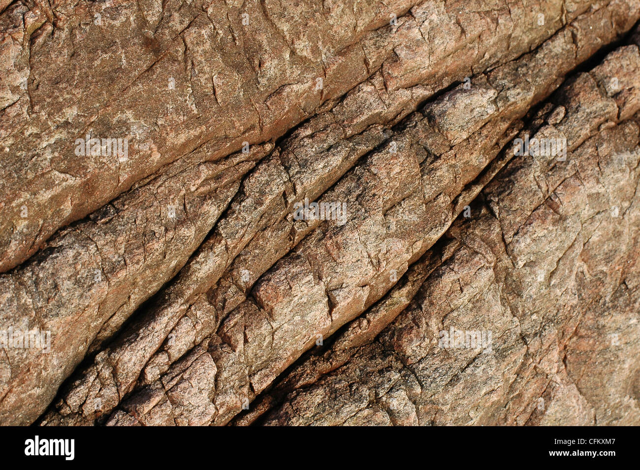 seamless warm colored granite stone texture - Stock Image
