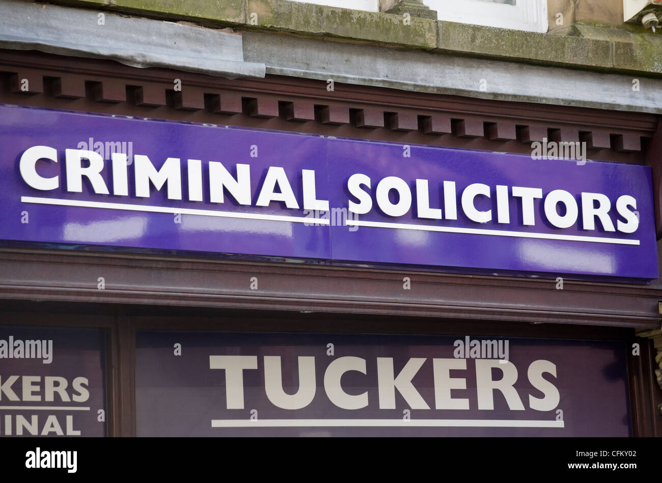 Solicitors funny humourous sign Bury England - Stock Image