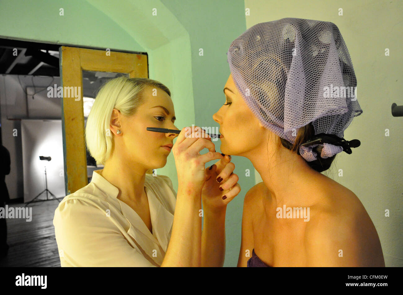 Hair & Make up models & stylists - Stock Image