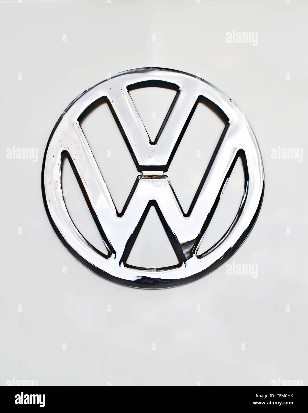 A Volkswagen (VW) vehicle logo on white background - Stock Image