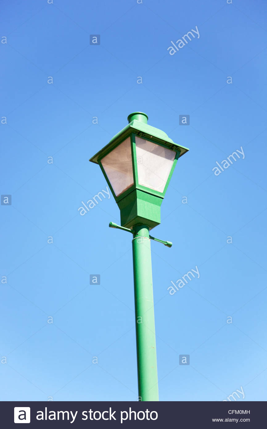 Old Street Lamp Railroad Park Willcox Arizona - Stock Image