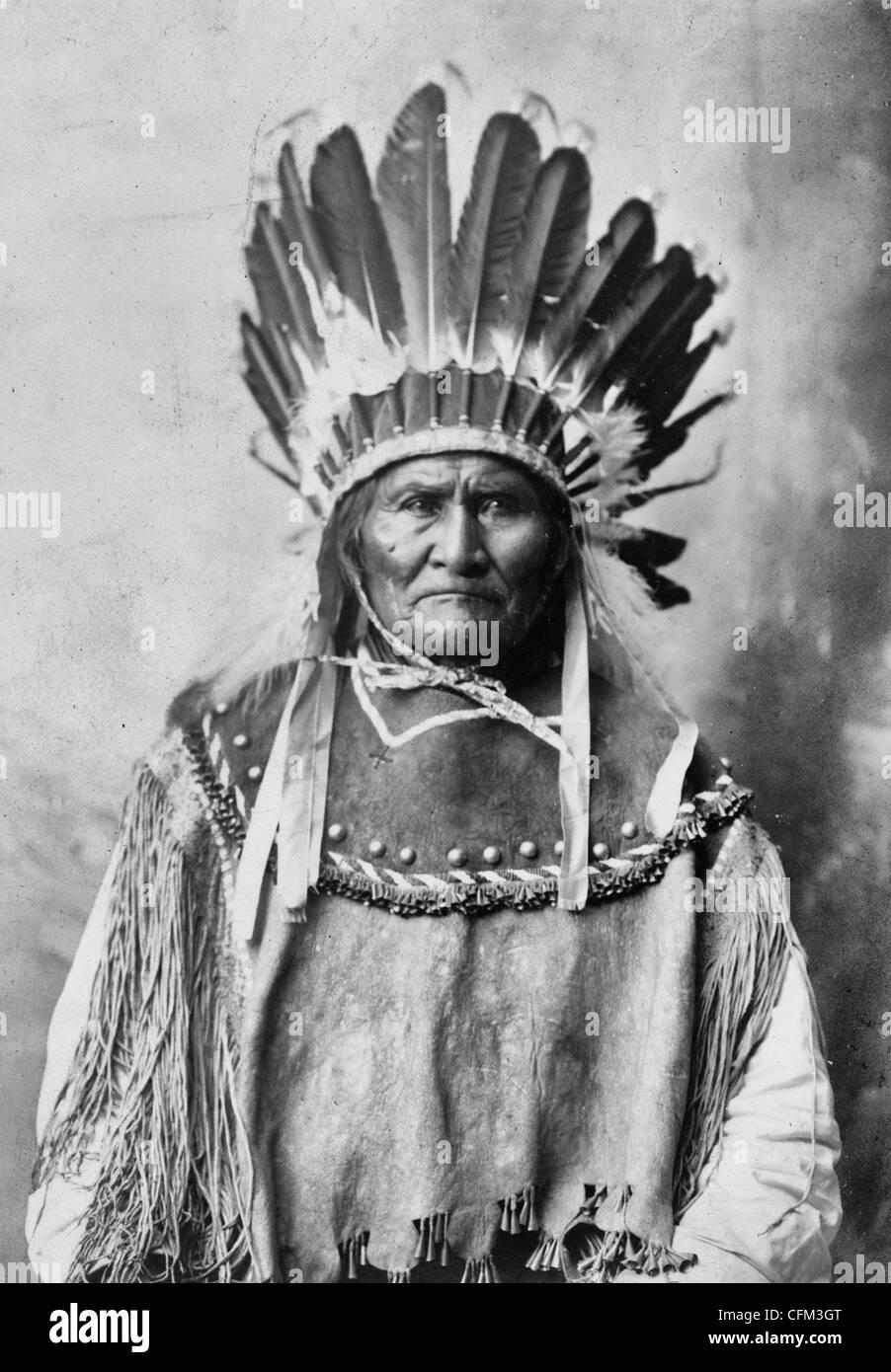 Geronimo - Apache tribal chief, circa 1907 - Stock Image