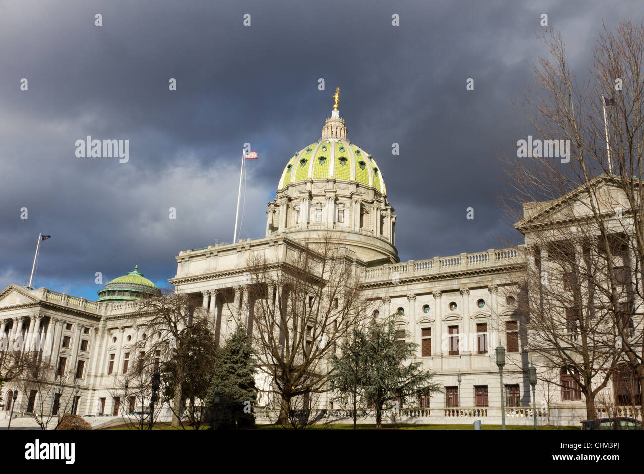 Pennsylvania state capitol building or statehouse in Harrisburg - Stock Image