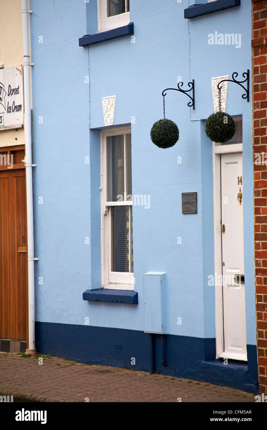 Hanging Topiary Balls At Sea Shell Cottage In Weymouth In March Stock Photo Alamy