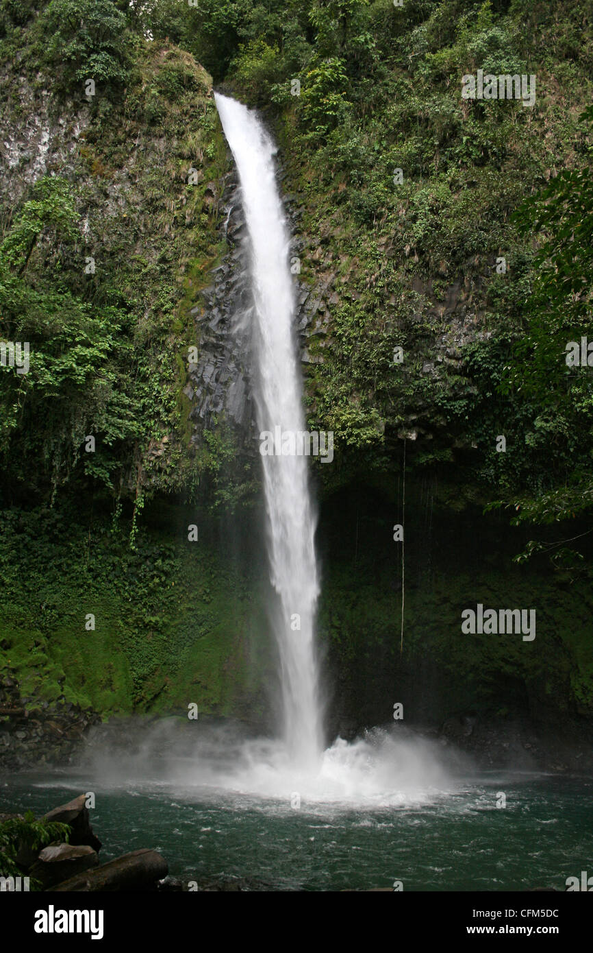 Waterfall (Catarata) Rio Fortuna, Costa Rica - Stock Image