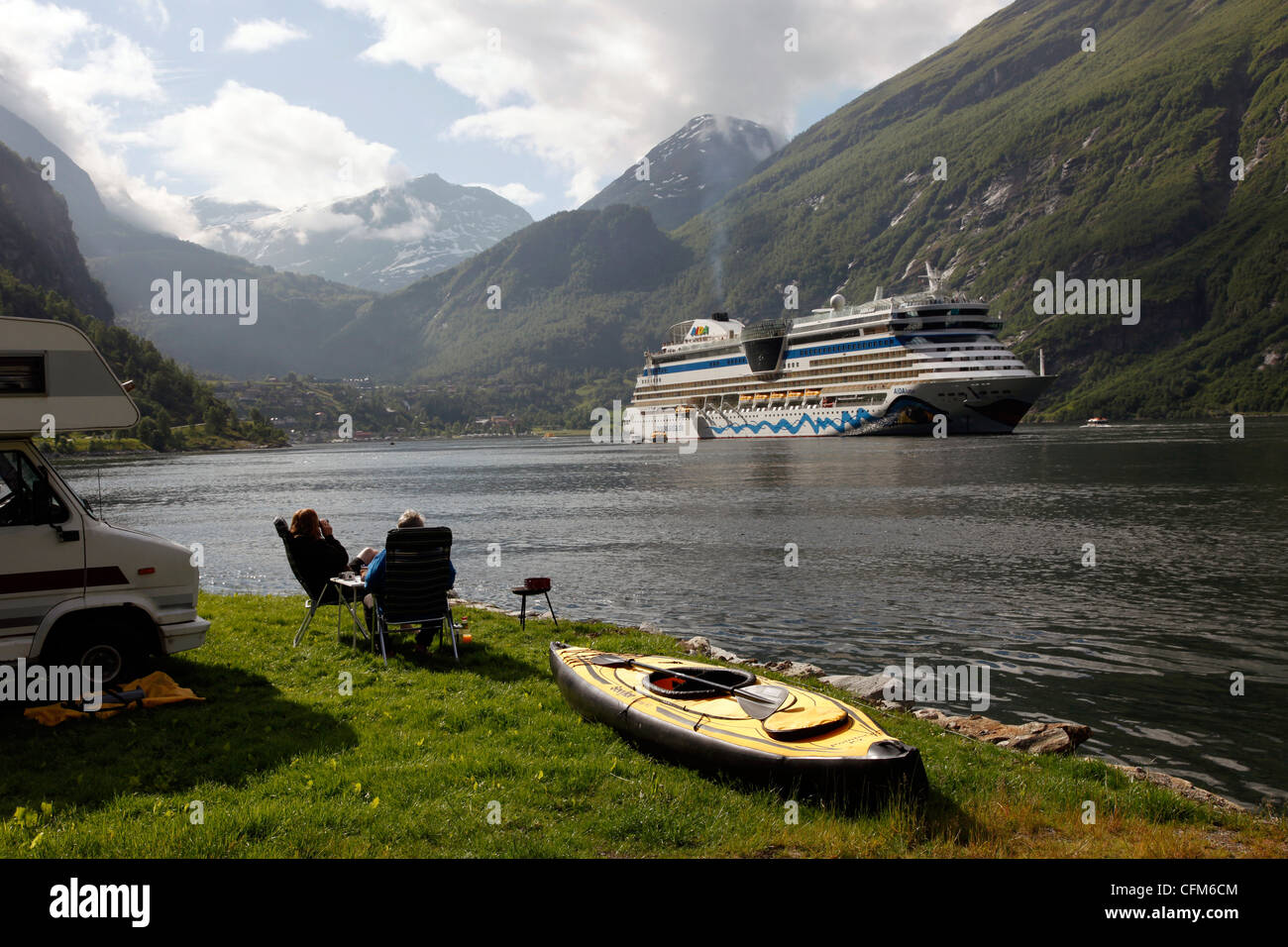 Geiranger Fjord, UNESCO World Heritage Site, More og Romsdal, Norway, Scandinavia, Europe - Stock Image