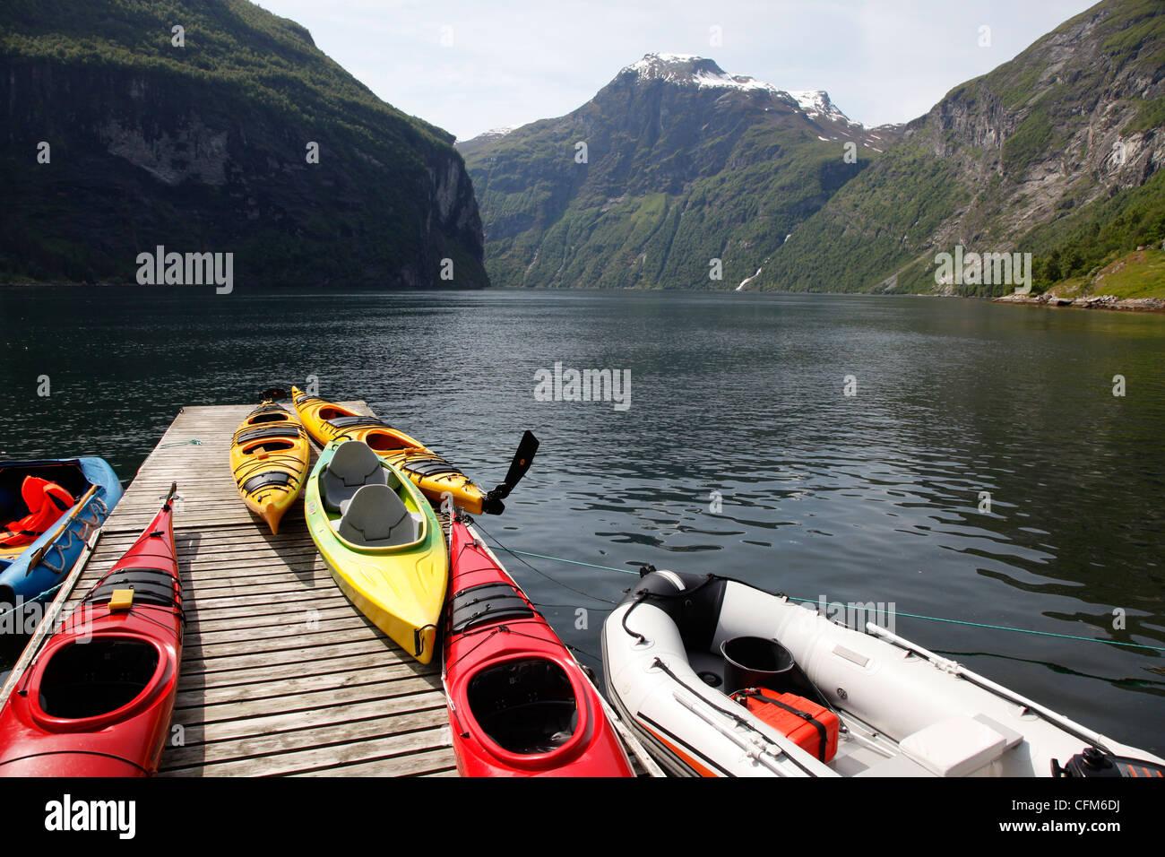 Geiranger Fjord, UNESCO World Heritage Site, More og Romsdal, Norway, Scandinavia, Europe - Stock Image
