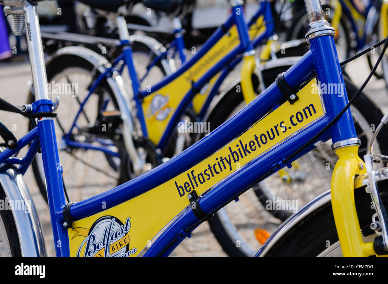 BelfastBikeTours.com bicycles. Bike tours for visitors and tourists. - Stock Image