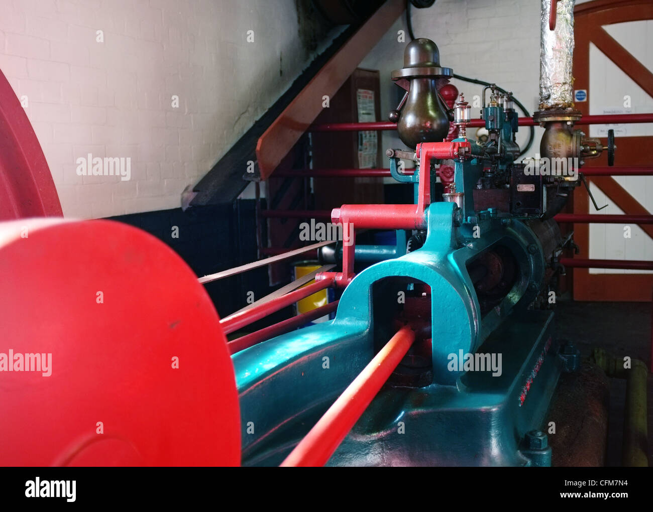 Steam Engine at Hook Norton Brewery Oxfordshire -1 - Stock Image