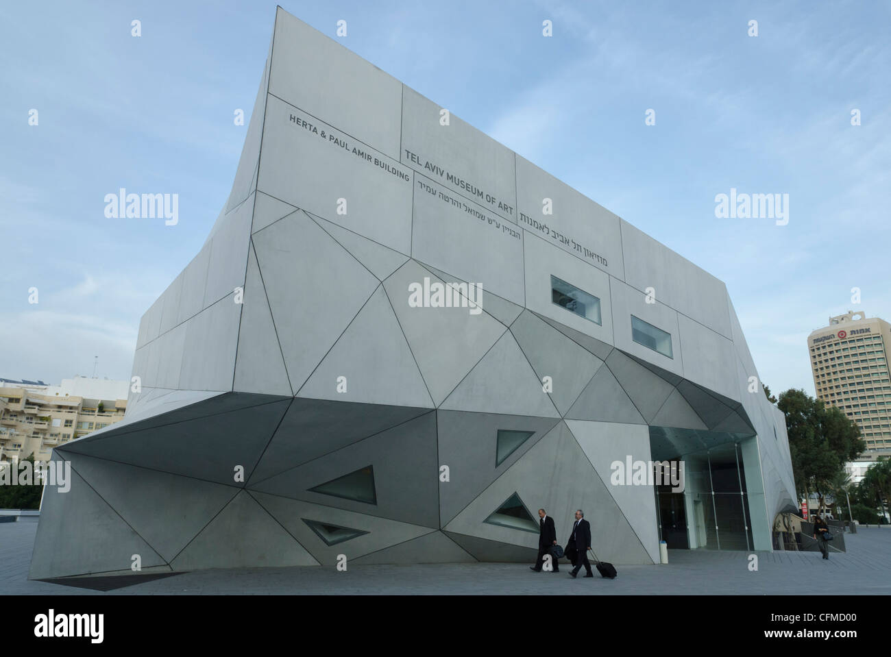 New wing of Tel Aviv Museum of Art, Tel Aviv, Israel, Middle East - Stock Image
