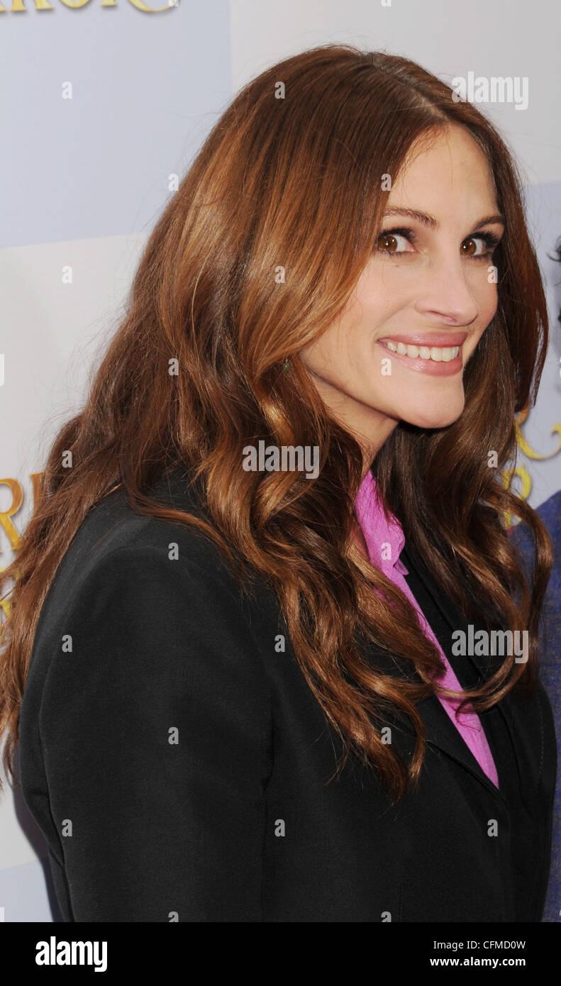 JULIA ROBERTS  US film actress in December 2011. Photo Jeffrey Mayer - Stock Image