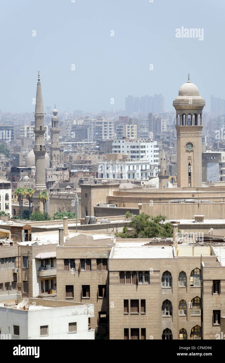 Cairo. Egypt. Part view of Cairo, capital of Egypt and the largest city in Africa and the Arab world. - Stock Image