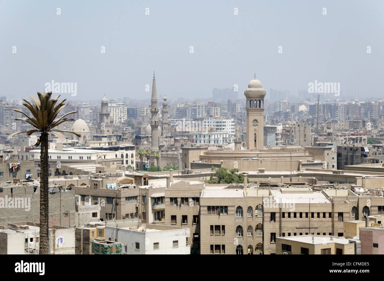 Cairo. Egypt. Panoramic view of Cairo, capital of Egypt and the largest city in Africa and the Arab world. - Stock Image