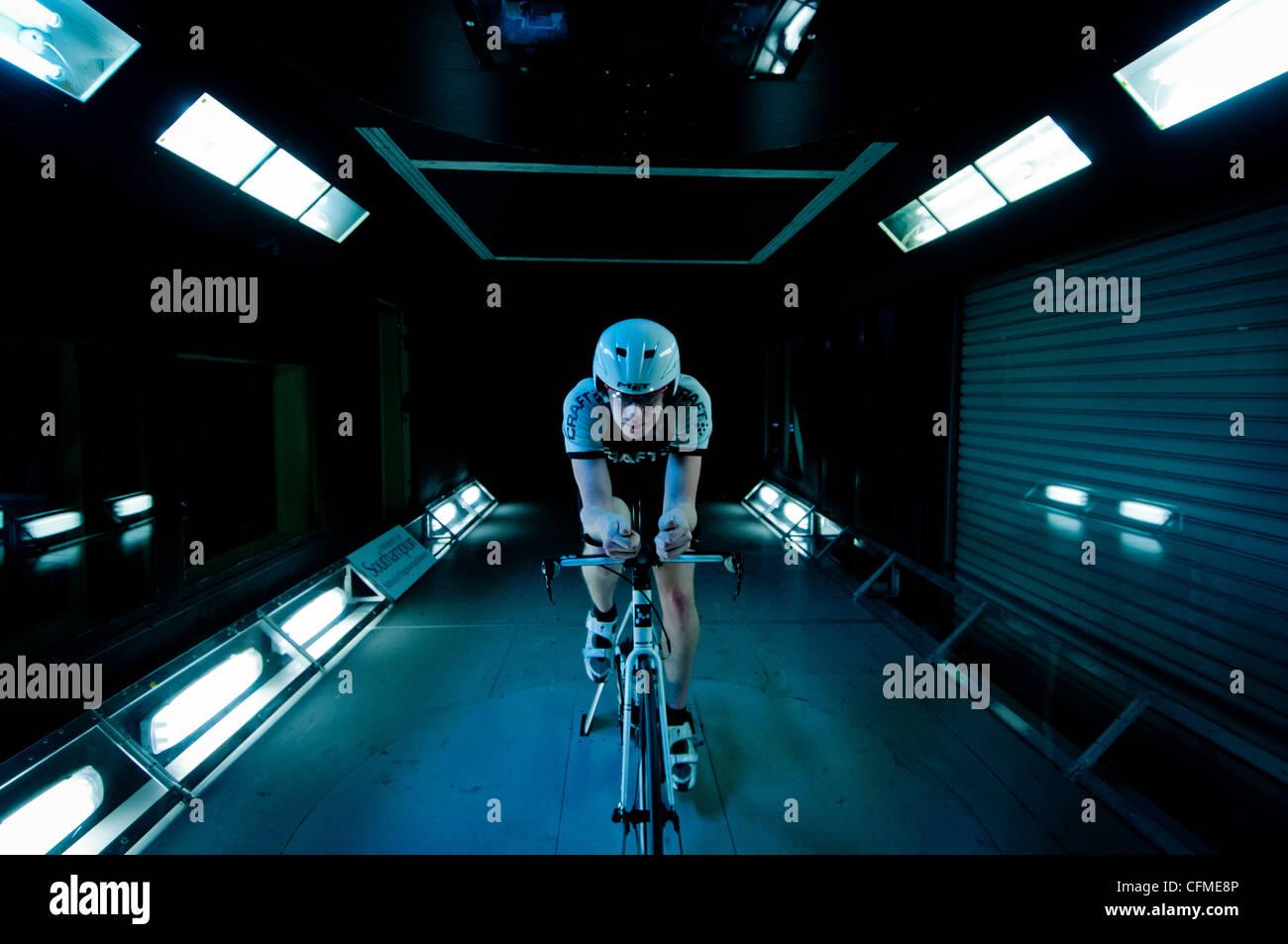 Wind tunnel training - Stock Image