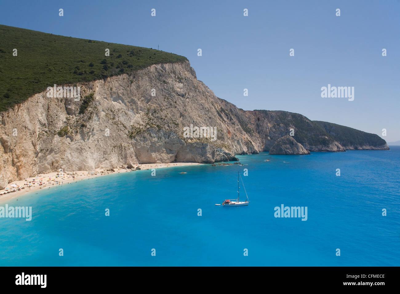 Porto Katsiki, Lefkada, Ionian Islands, Greek Islands, Greece, Europe - Stock Image