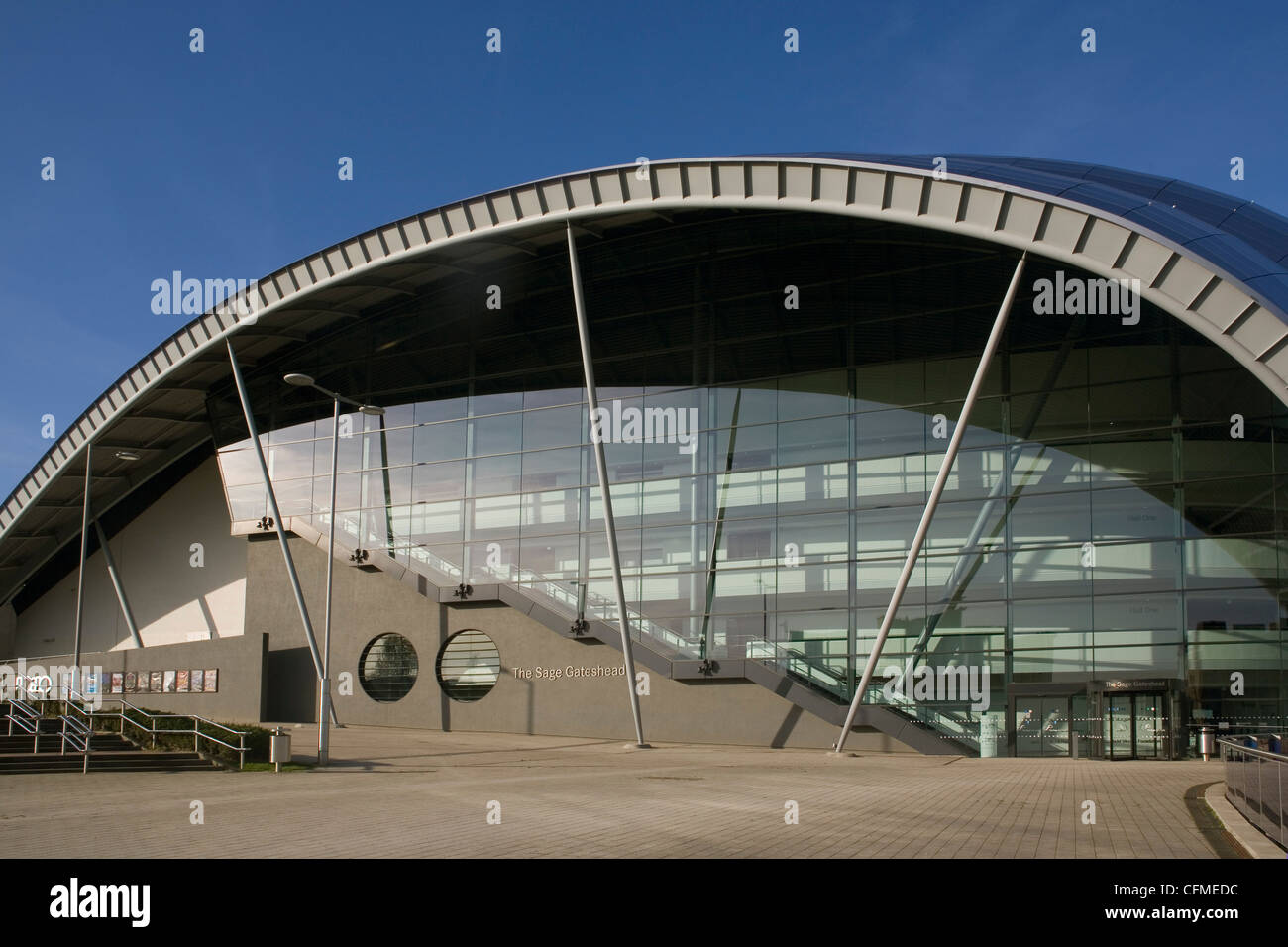 The Sage Auditorium, Gateshead, Tyne and Wear, England, United Kingdom, Europe - Stock Image