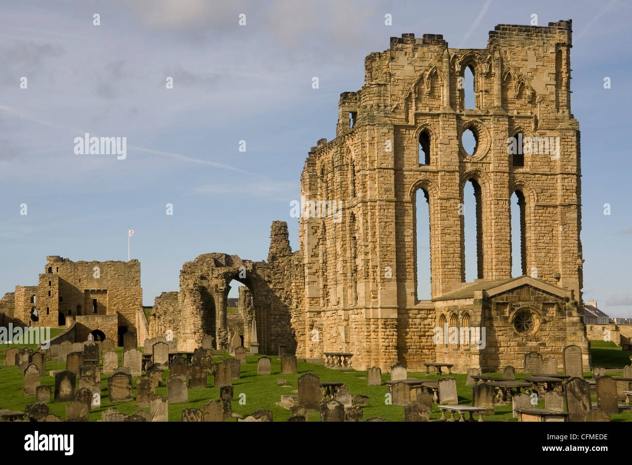 Tynemouth Castle and Priory, Tyne and Wear, England, United Kingdom, Europe - Stock Image