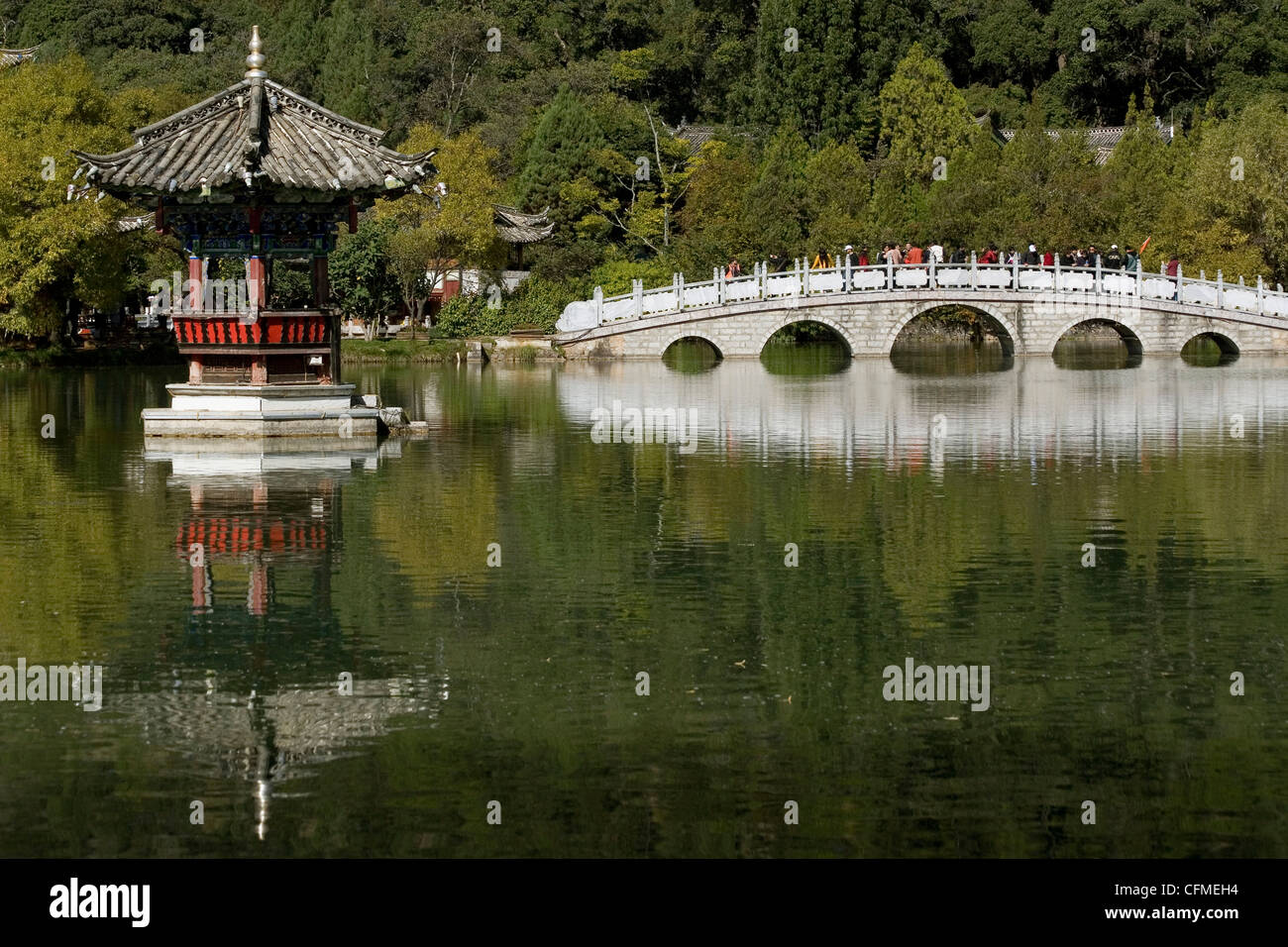 Black Dragon Pool Park, Lijiang, Yunnan, China, Asia - Stock Image