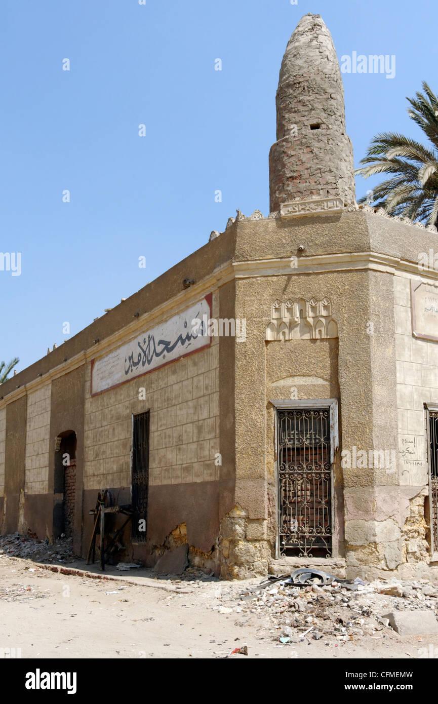 Cairo. Egypt. dusty desolate scene in the city of the dead. The city of the dead is the northern cemetery of vast - Stock Image