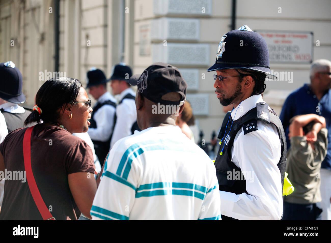united kingdom london ladbroke grove policing the notting hill carnival Stock Photo