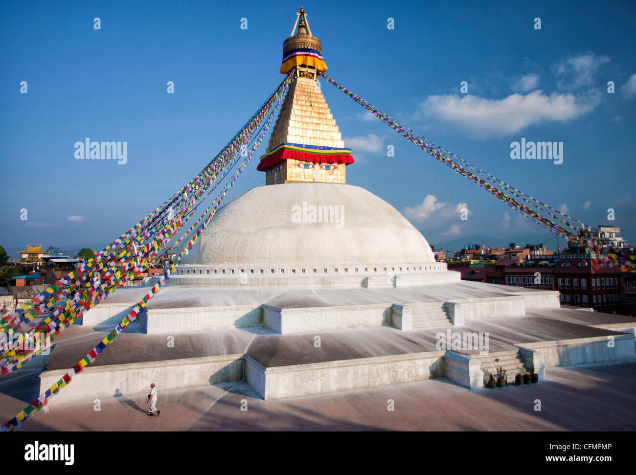 Bodhnath Stupa (Boudhanth) (Boudha), Kathmandu, Nepal, Asia - Stock Image