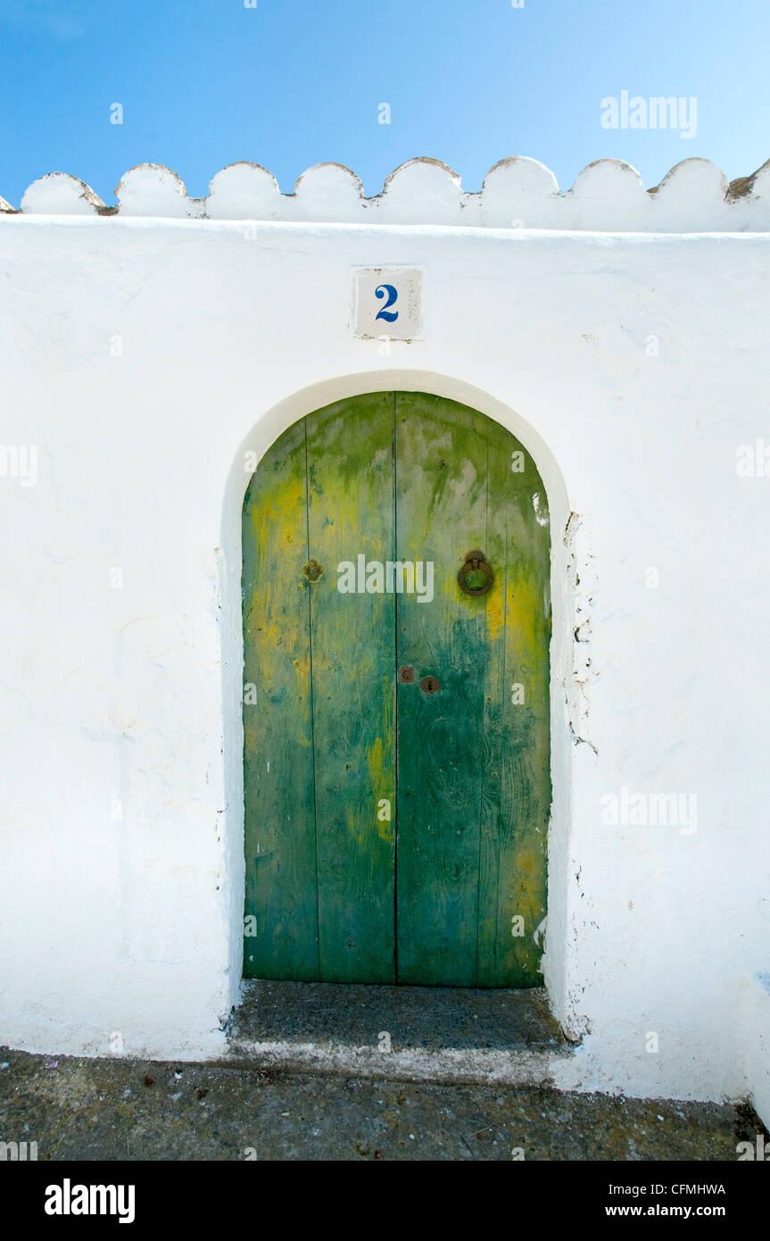 Old Doorway Santa Eulalia Ibiza Balearics Spain - Stock Image