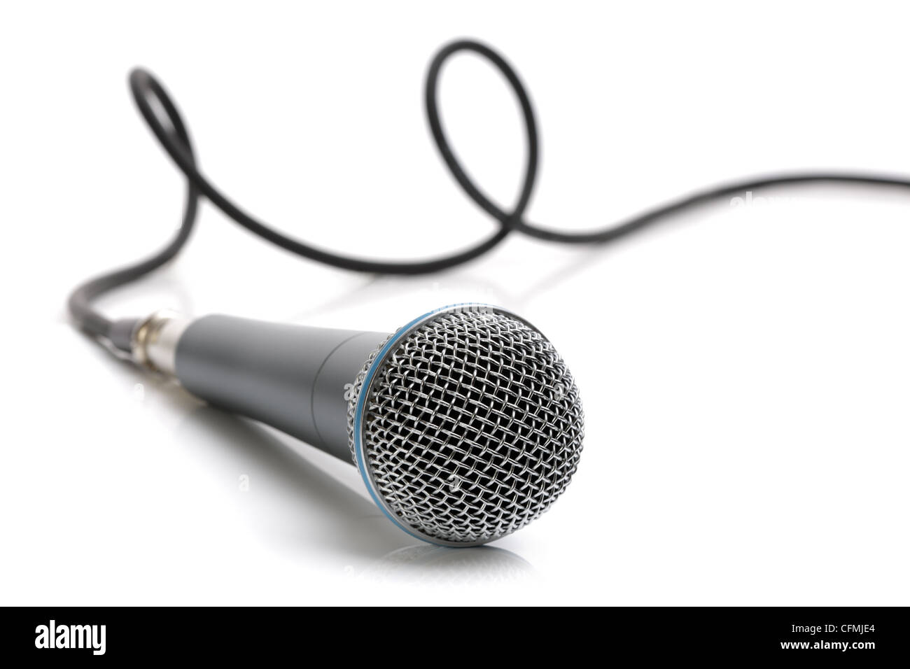 Microphone and cable - Stock Image