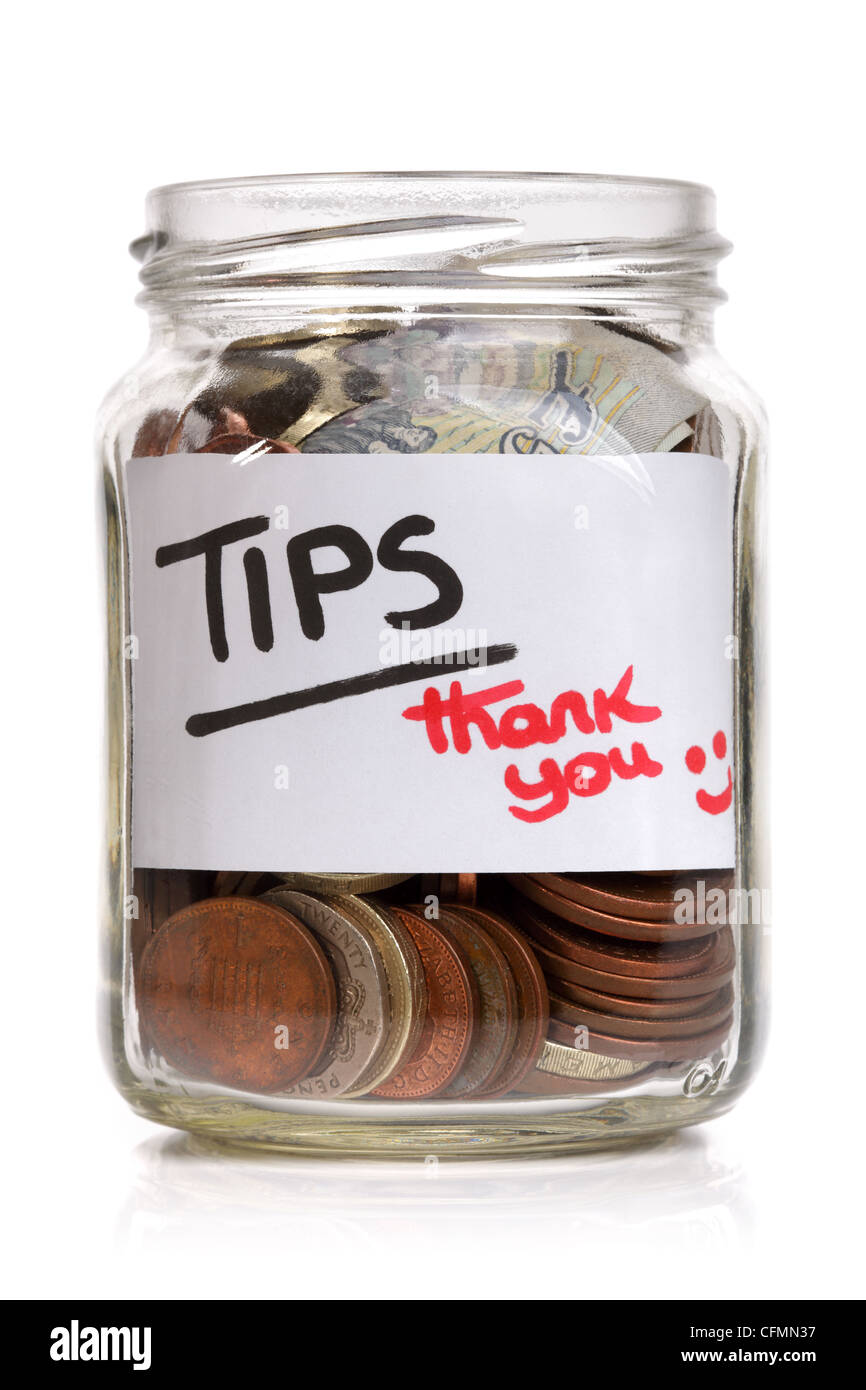 Tip jar - Stock Image