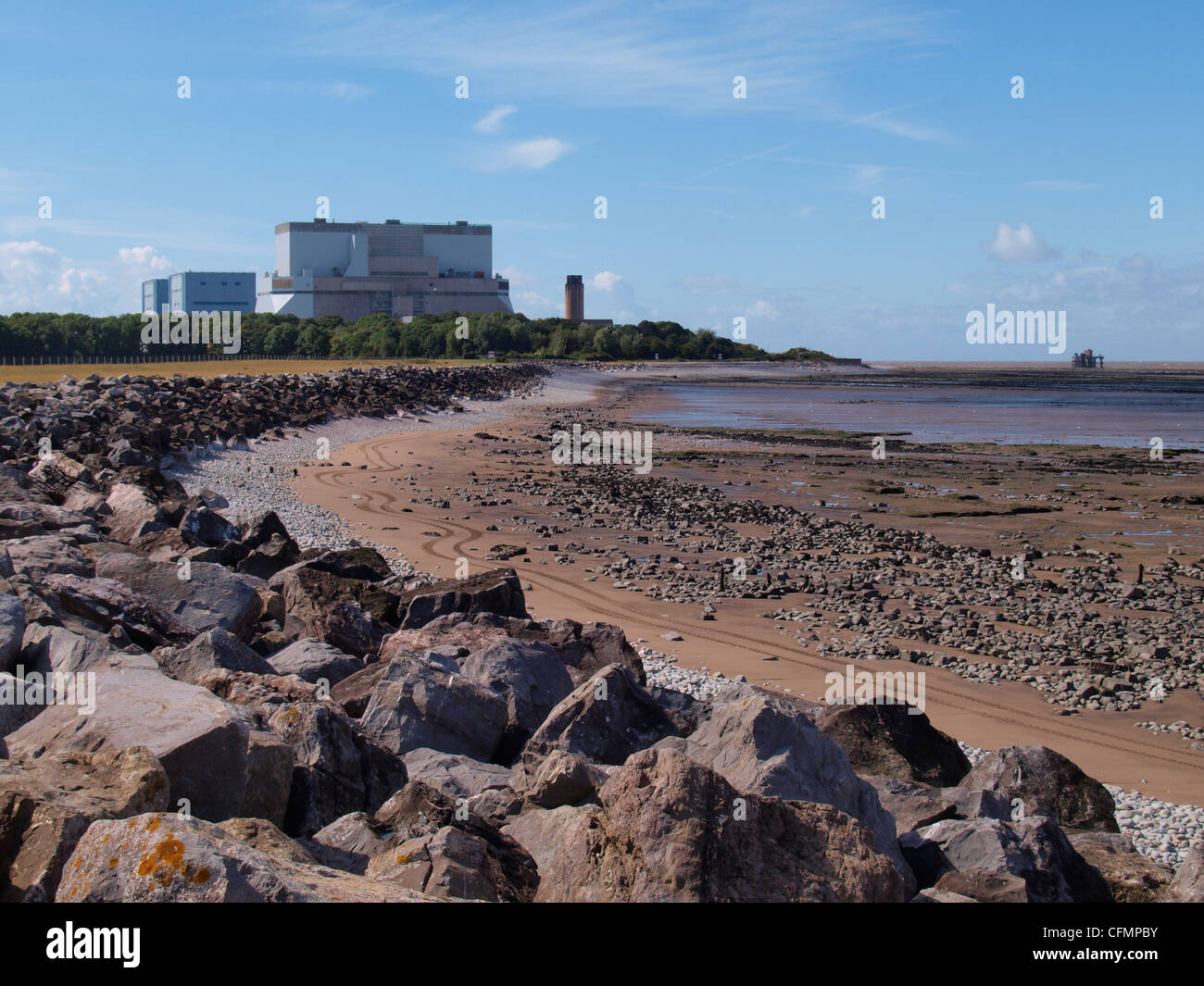 Hinkley Point nuclear power station, Somerset, UK - Stock Image