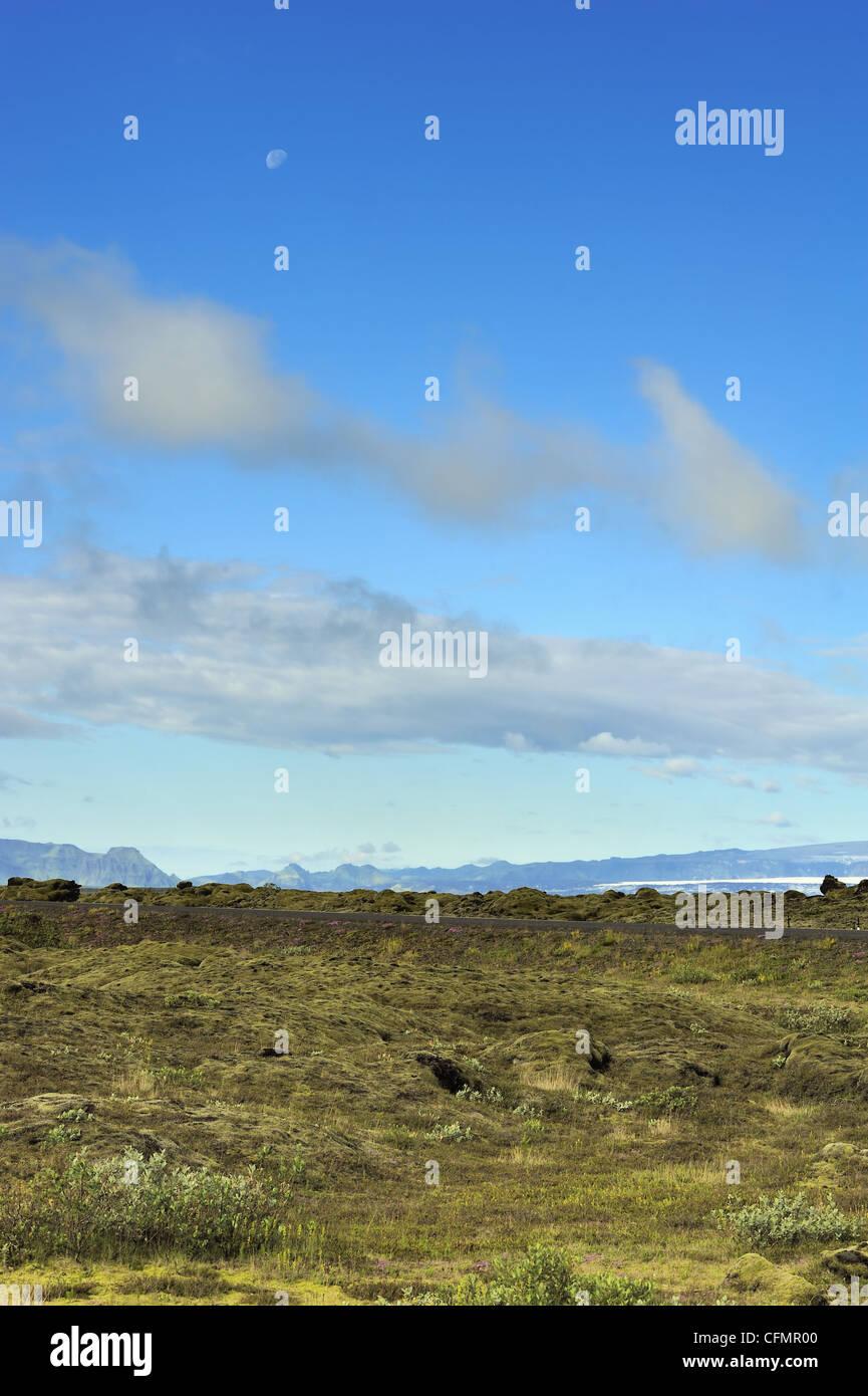 lava field at Eldhraun, Iceland - Stock Image