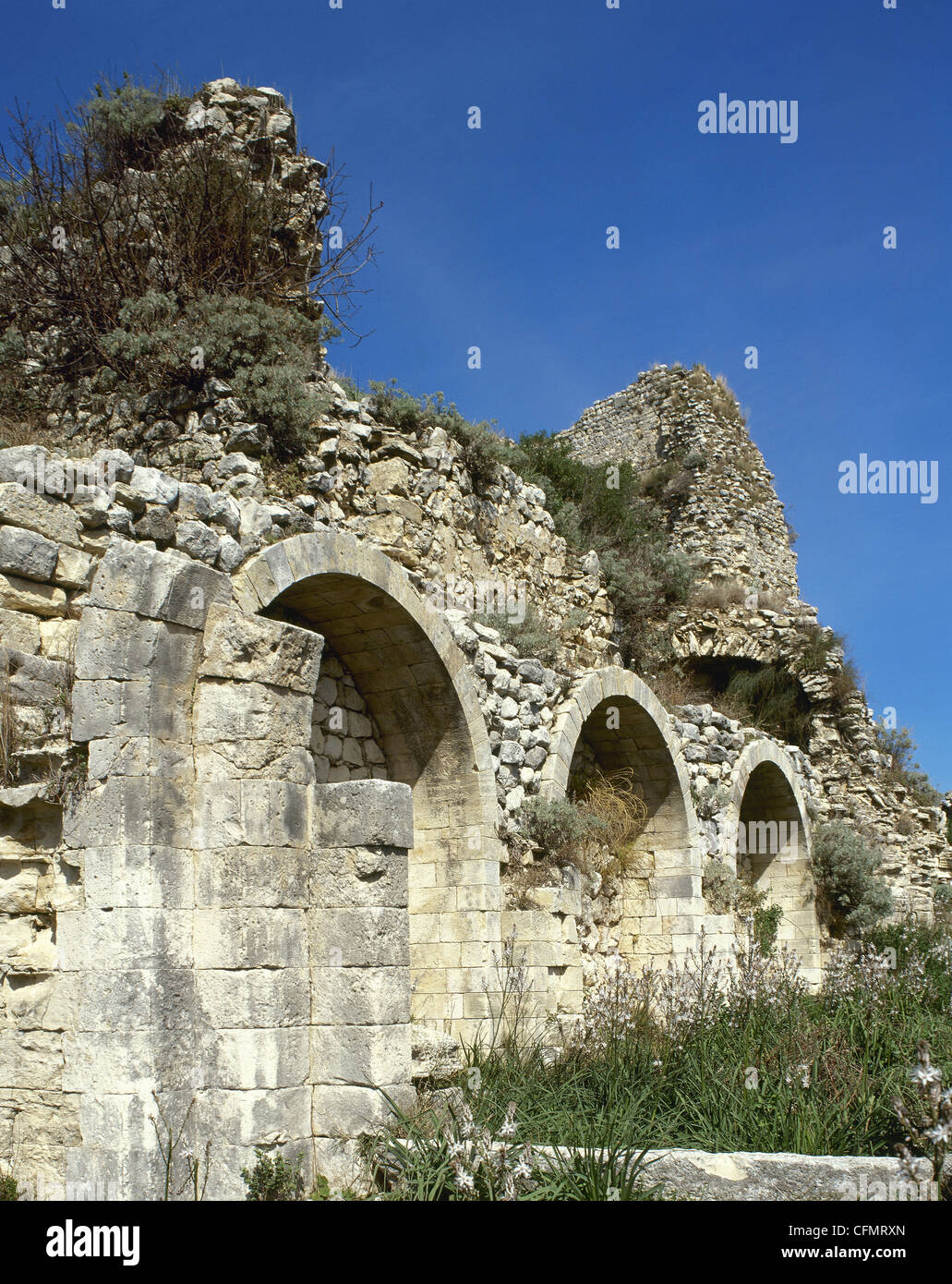 Syria. Crusader church inside the Citadel of Salah Ed-Din or Saladin castle. Near Latakia. World Heritage Site by - Stock Image