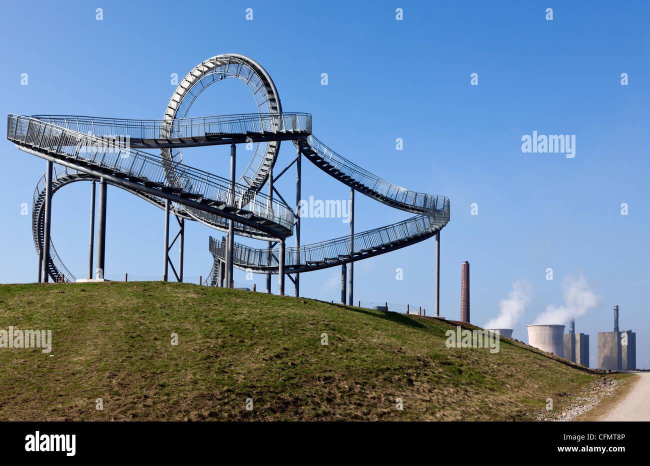 Tiger & Turtle, pedestrian rollercoaster, Duisburg-Wanheim, Germany - Stock Image