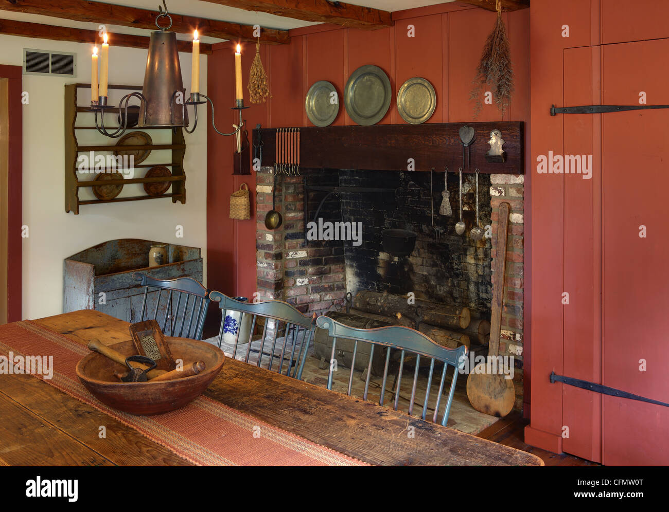 Primitive Colonial Reproduction Home - Stock Image