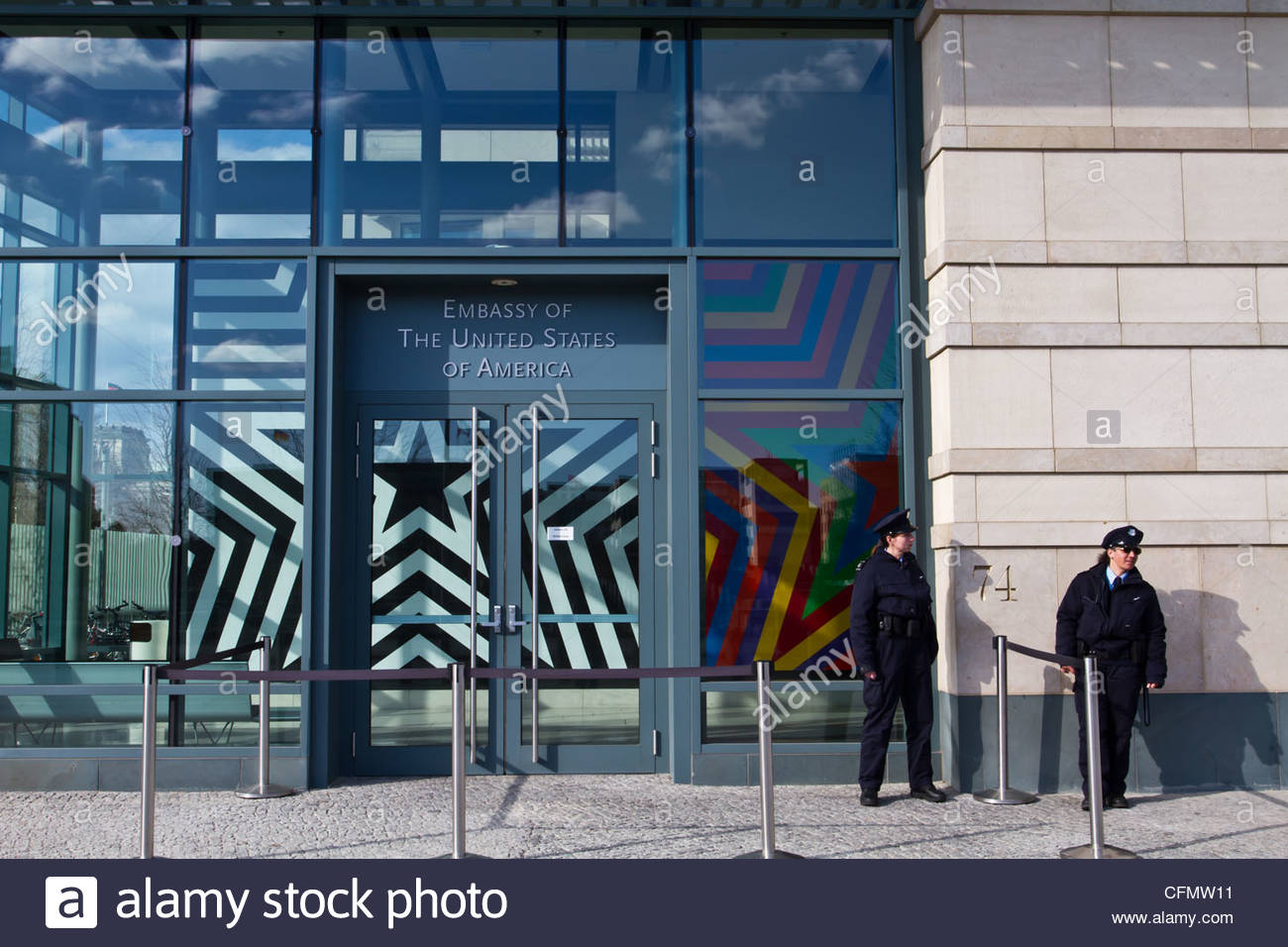 Embassy of the United States of America in Berlin - Stock Image