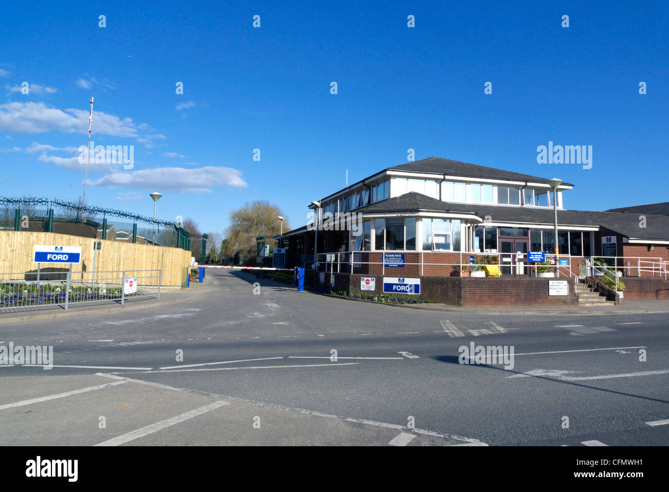 united kingdom west sussex ford the entrance to ford open prison - Stock Image