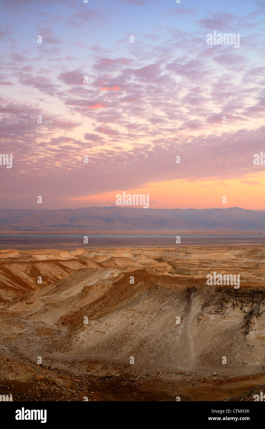 Landscape of the Judaean Desert near the Dead Sea in Israel - Stock Image